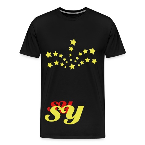 Black/yellow/red  still young  T  - Men's Premium T-Shirt