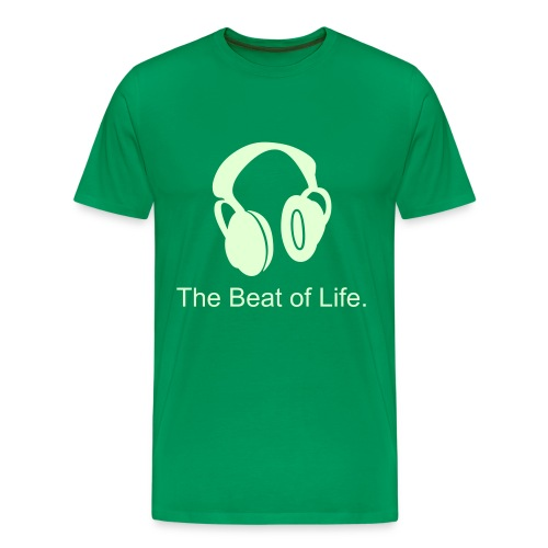 The Beat of Life/phones - Men's Premium T-Shirt