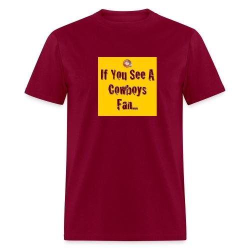 Joke 'Em Burgandy Tee - Men's T-Shirt