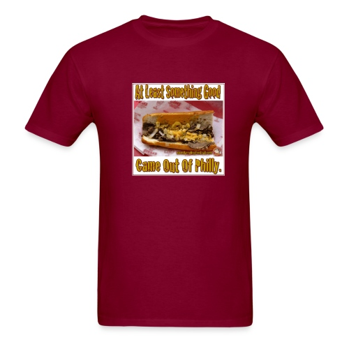Philly Steak Burgandy Tee - Men's T-Shirt