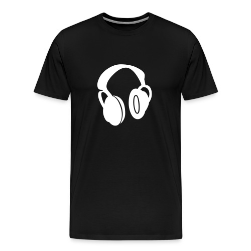 Headphones white - Men's Premium T-Shirt