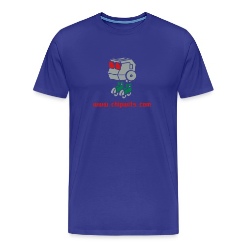 Heavyweight cotton T-Shirt - Chipwit (blue) - Men's Premium T-Shirt