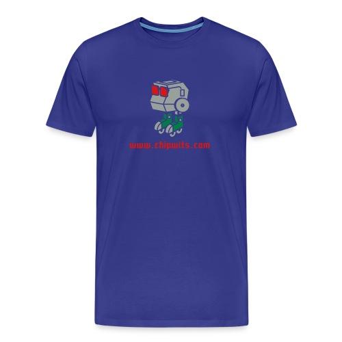 Heavyweight cotton T-Shirt - Chipwit (blue) - Men's Premium T-Shirt