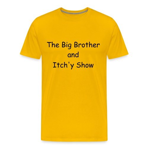 The Yellow One with black print. - Men's Premium T-Shirt