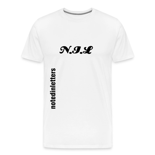 Noted In Letters SS - Men's Premium T-Shirt