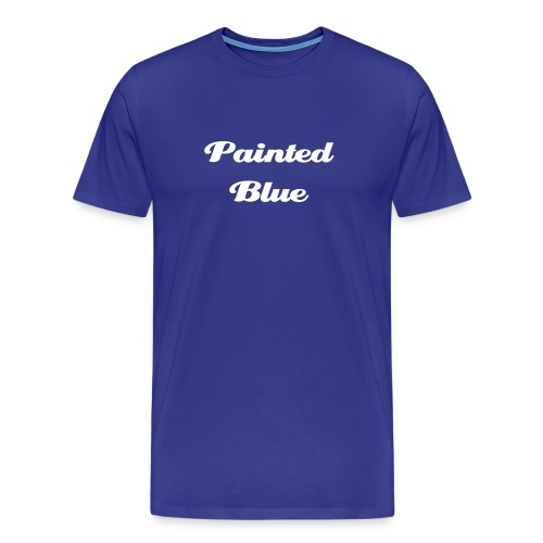 Painted Blue script - Men's Premium T-Shirt