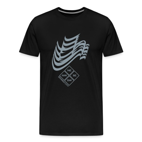 Black Divided City Tee [''] ** METALLIC SILVER ** - Men's Premium T-Shirt