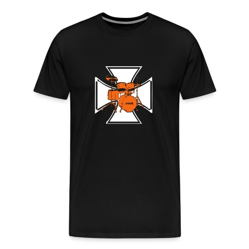 Heavyweight Cotton T-Shirt W/Cross Logo - Men's Premium T-Shirt