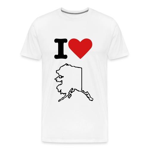 I Love AK (w)  - Men's Premium T-Shirt