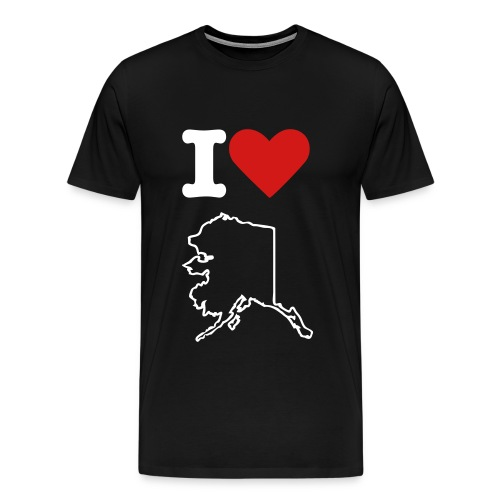 I Love AK (b) - Men's Premium T-Shirt