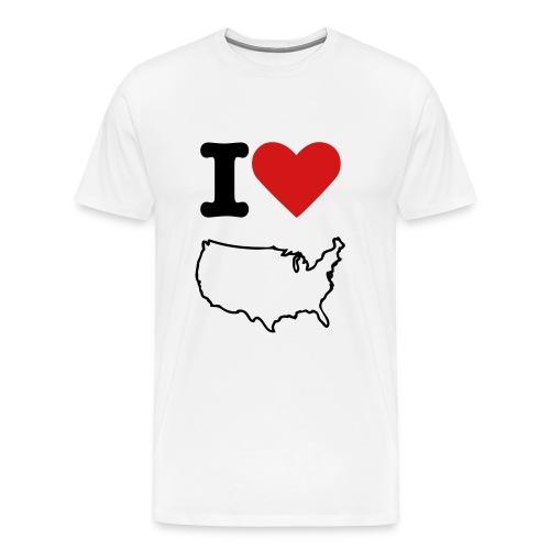 I Love US (w) - Men's Premium T-Shirt