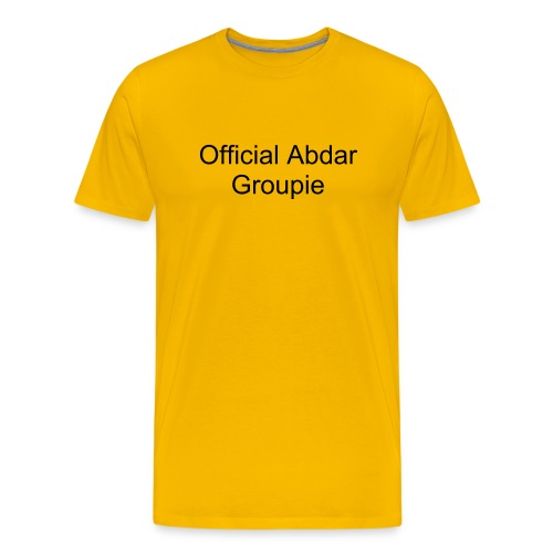 Abdar Groupie Shirt  - Yellow - Men's Premium T-Shirt