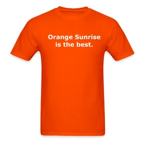 Orange Sunrise Shirt - Orange - Men's T-Shirt