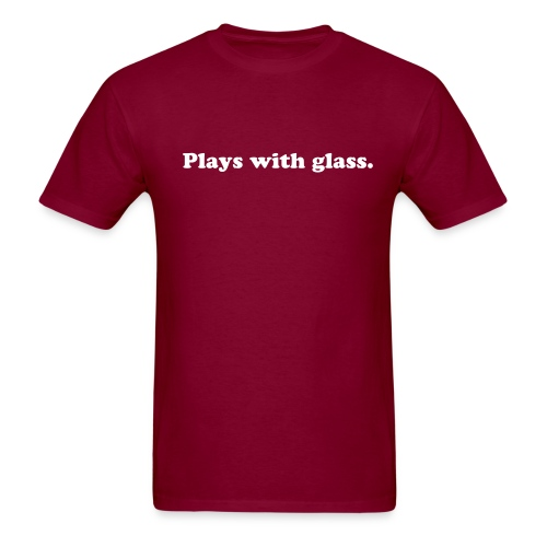 MENS PLAYS WITH GLASS T-SHIRT (BURGUNDY) - Men's T-Shirt