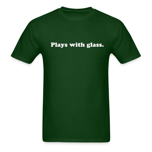 MENS PLAYS WITH GLASS T-SHIRT (FOREST GREEN) - Men's T-Shirt