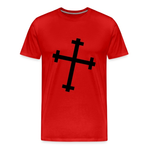 New Allegiance black Cross Tee - Men's Premium T-Shirt