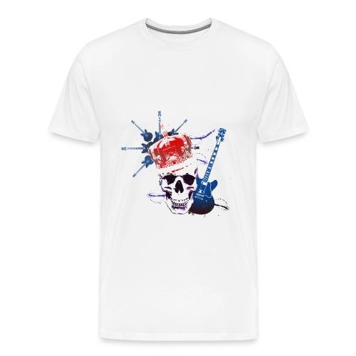 Fueldradio.com White T-shirt  - Men's Premium T-Shirt