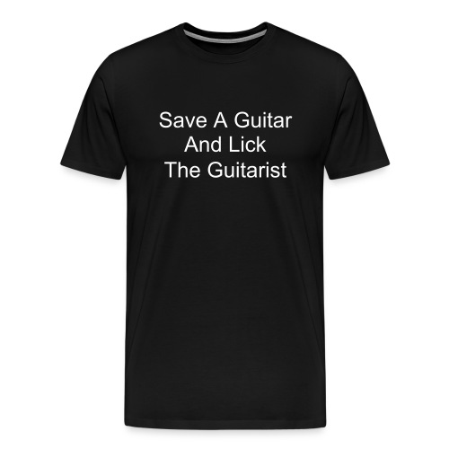 Lick The Guitarist - Men's Premium T-Shirt