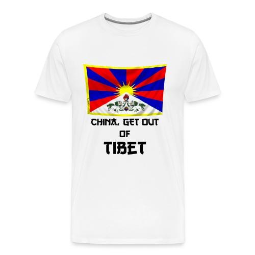 free tibet - Men's Premium T-Shirt