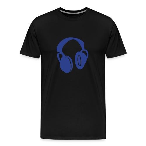 Headphones blue - Men's Premium T-Shirt