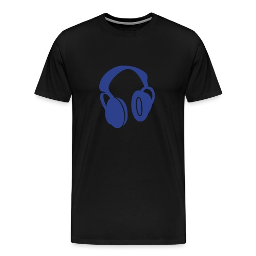 Headphones blue - Men's Premium T-Shirt