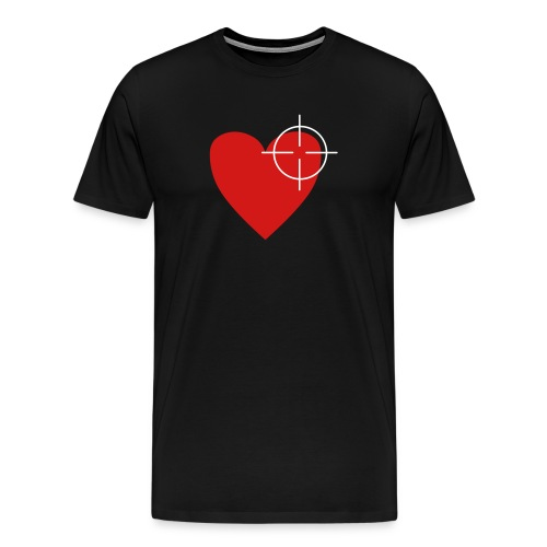shot thru the heart - Men's Premium T-Shirt
