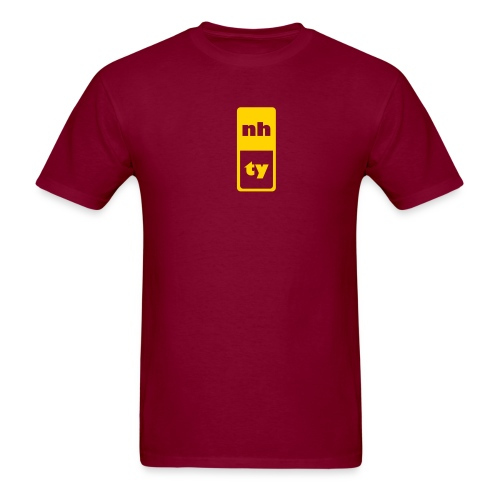 nh,ty burgundy - Men's T-Shirt
