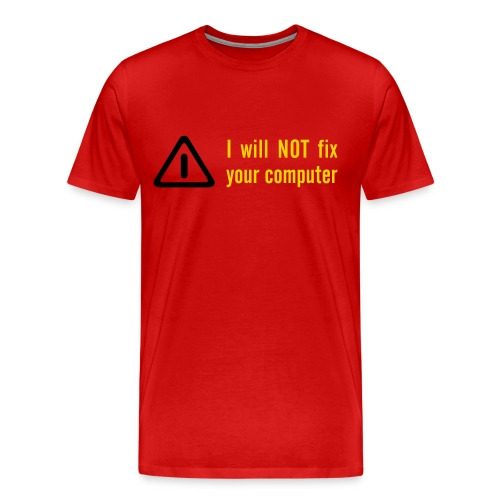 Bug Fixed Red Tee - Men's Premium T-Shirt