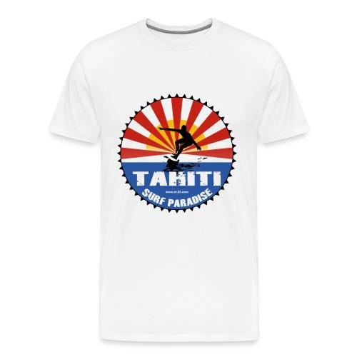 Tahiti surf t-shirt - Men's Premium T-Shirt