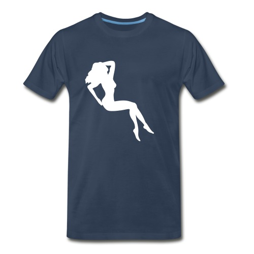 Girl B/W - Men's Premium T-Shirt