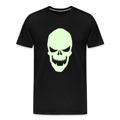 Glow in da Dark skull tee - Men's Premium T-Shirt