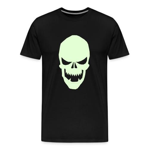 Glow in da Dark skull tee - Men's Premium T-Shirt
