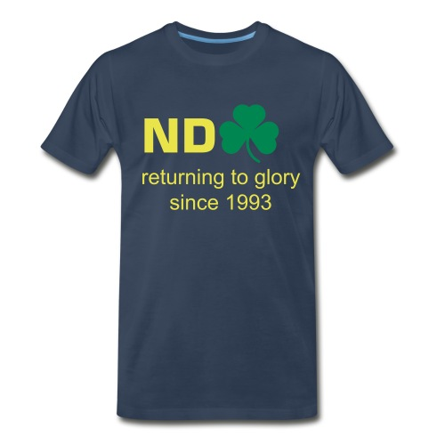 Returning To Glory - Blue - Men's Premium T-Shirt