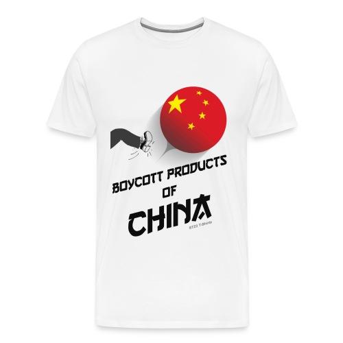 boycott made in china - Men's Premium T-Shirt