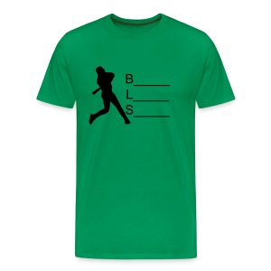 Kelly Green w/number - Men's Premium T-Shirt