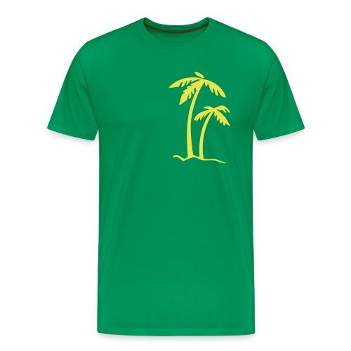 Green palm trees t-shirt - Men's Premium T-Shirt