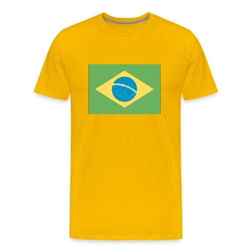 Brazil Flag - Shirt - Men's Premium T-Shirt