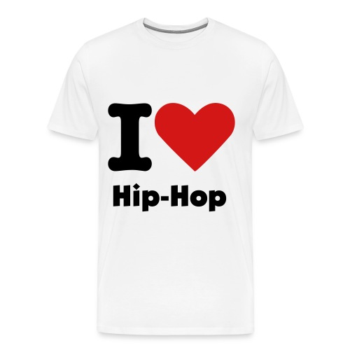 I love hip hop Tee(White) - Men's Premium T-Shirt