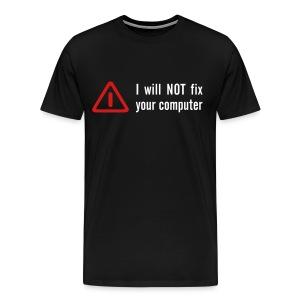Bug Fixed Black Tee - Men's Premium T-Shirt