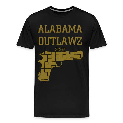 Mens Outlawz Pistol Tee - Men's Premium T-Shirt
