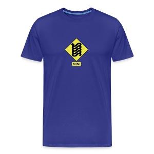 MINI Curves Ahead Sign - Men's Premium T-Shirt
