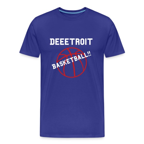 Deeetroit Basketball - Men's Premium T-Shirt