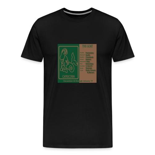 Capricorn Color Square Zodiac Tee - Men's Premium T-Shirt