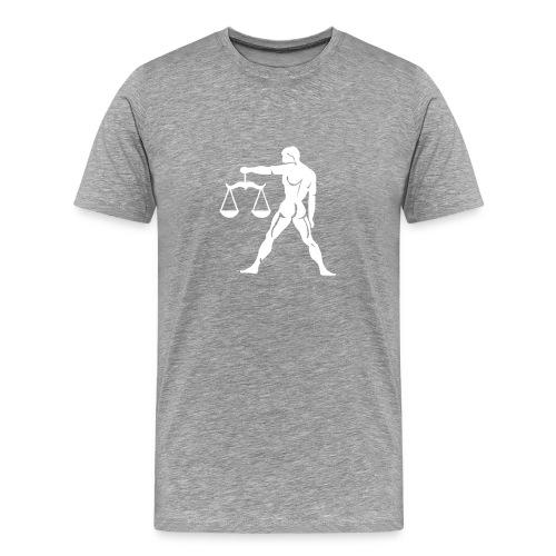 Heavyweight Cotton T-Shirt (Libra Print) - Men's Premium T-Shirt