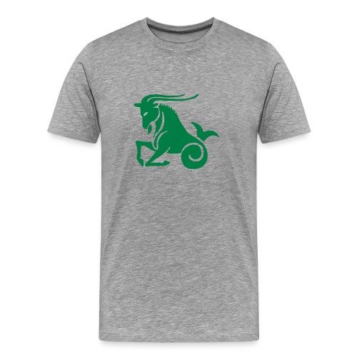Heavyweight Cotton T-Shirt (Capricorn Print) - Men's Premium T-Shirt