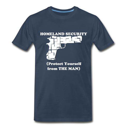Homeland Security Men's T-Shirt (Navy/White) - Men's Premium T-Shirt