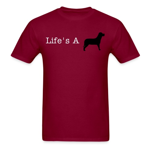 Life's a Dog Male Tee - Men's T-Shirt