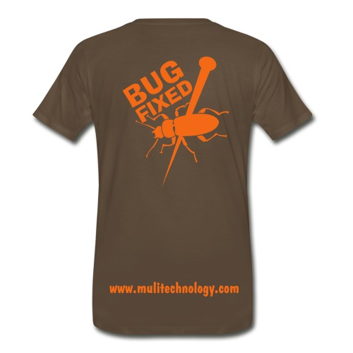 Chocolate Bug Fixed Cotton Tee - Men's Premium T-Shirt