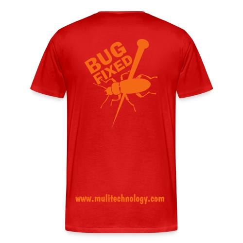 Red Bug Fixed Cotton Tee - Men's Premium T-Shirt