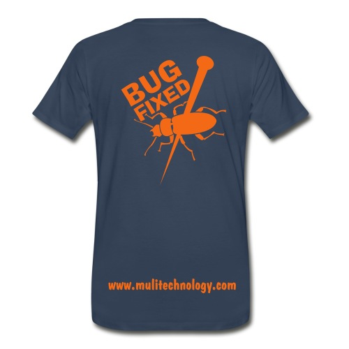 Navy Bug Fixed Cotton Tee - Men's Premium T-Shirt
